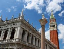 San Marco Piazza (o quadrado de St Mark) em Veneza imagens de stock