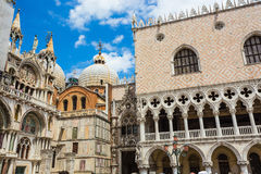 San Marco Piazza in Venice. VENICE-JUNE, 26: San Marco Piazza in Venice on June, 26, 2014. San Marco Piazza is the most expensive part of the city, visiting Stock Image