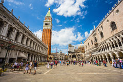San Marco piazza w Wenecja Obrazy Royalty Free