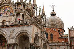The San Marco Plaza Venice. The scenery at San Marco Plaza in Venice Italy stock photos