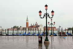 The San Marco Plaza Venice. The scenery at San Marco Plaza in Venice Italy royalty free stock photo