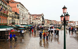 The San Marco Plaza Venice. The scenery at San Marco Plaza in Venice Italy royalty free stock images