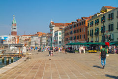 The San Marco Plaza Venice. The scenery at San Marco Plaza in Venice Italy royalty free stock photography