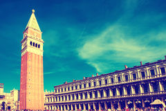 San Marco square with Campanile and Doge Palace Royalty Free Stock Photo