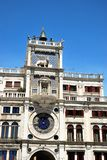 San Marco square clock tower in Venice Stock Image