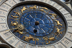 San Marco square clocks Venice Stock Images