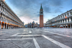San Marco square at dawn Stock Photo