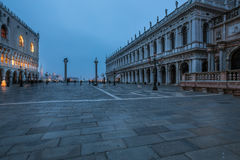 San Marco square at dusk Stock Photography