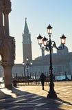 San Marco square, grand canal and San Giorgio Maggiore church in Venice Stock Photography