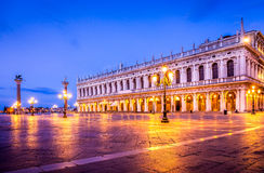 San Marco square in the morning Royalty Free Stock Photo