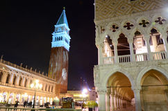 San Marco square at night, Venice, Italy Stock Photos