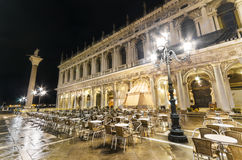 San Marco square at night. Venice, Italy. Royalty Free Stock Image