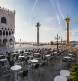San Marco square at sunrise in Venice, Italy Stock Image