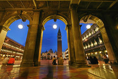 San Marco square to Venice Stock Photo