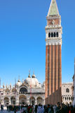 San Marco square with tourists in Venice Royalty Free Stock Photos