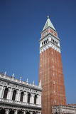 San Marco square tower in beautiful Venice Stock Images