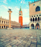 San Marco square in Venice early morning Royalty Free Stock Images