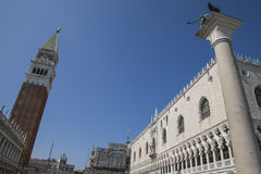 San Marco Square, Venice, Italy/the Bell Tower and the Doge& x27;s Palace. This image shows the Bell Tower and the Doge& x27;s Palace on the San Marco Square in Stock Image