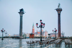 San Marco square in Venice. Italy early in the morning Royalty Free Stock Photos