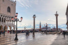 San Marco square in Venice, Italy early on a sunny day Royalty Free Stock Photography