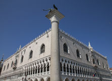 San Marco Square, Venice, Italy/looking up. This image shows the Palazzo Ducale on the San Marco Square in Venice, Italy. It was taken looking up against a blue Stock Images