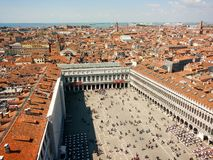 San Marco Square, of Venice, Italy royalty free stock photography