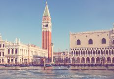 San Marco square waterfront, Venice Stock Images