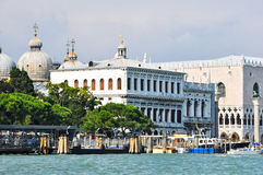 San Marco station and the Doge's Palace as seen from the Grand Canal  in Venice, Italy. Royalty Free Stock Photo