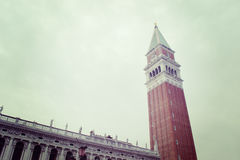 San Marco steeple in Venice in vintage tone Royalty Free Stock Photography