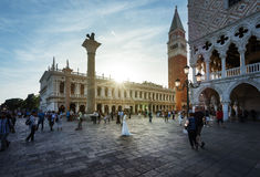 San Marco in sunset time, Venice Stock Image