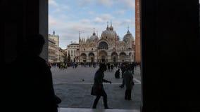 San Marco Vierkant Venetië stock footage
