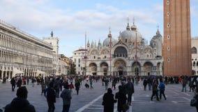 San Marco Vierkant Venetië stock video