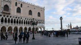 San Marco Vierkant Venetië stock videobeelden