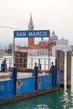 San Marco water bus stop sign Royalty Free Stock Photos