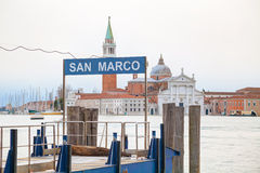 San Marco water bus stop sign Royalty Free Stock Photo