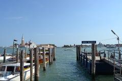 San marco wharf Royalty Free Stock Image