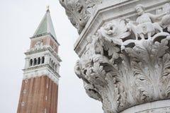 San Marcos Bell Tower - Campanile; Venedig Royaltyfria Bilder