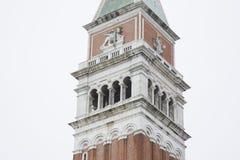 San Marcos Bell Tower - Campanile; Venedig Royaltyfri Fotografi
