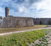 San Marcos Castle in St. Augustine, Florida, Ancient fort.  royalty free stock photography