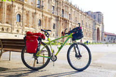 San Marcos in Leon bike at Way of Saint James Stock Photography