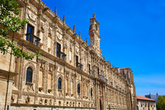 San Marcos in Leon at the way of Saint James Royalty Free Stock Images