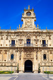 San Marcos in Leon at the way of Saint James Royalty Free Stock Photo