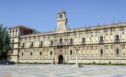 San Marcos Monastery Leon, Spanien Stockbilder