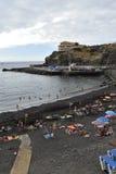 San Marcos plaża, Tenerife, Hiszpania Zdjęcia Stock