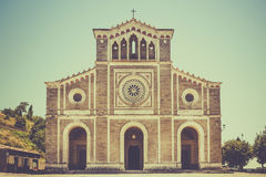 San Margherita church in Cortona, Italy Stock Image