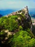 San Marino. Sightseeing of the Republic of San Marino hdr stock photo