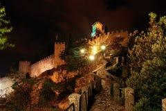 San Marino_2. Towers and path in San Marino Stock Photos