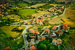 San Marino. The view from hill in San Marino Royalty Free Stock Photography