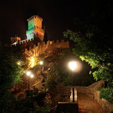 San Marino_4. Towers and path in San Marino Royalty Free Stock Image