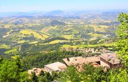 San-Marino achtergrond Stock Foto's